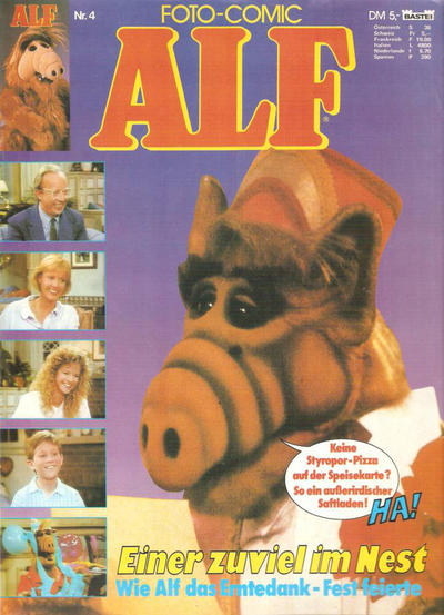 Cover for Alf Foto Comic (Bastei Verlag, 1988 series) #4