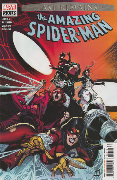 Cover for Amazing Spider-Man (Marvel, 2018 series) #53.LR [Variant Edition - Marvel Spider-Man - Jason Hickey Cover]