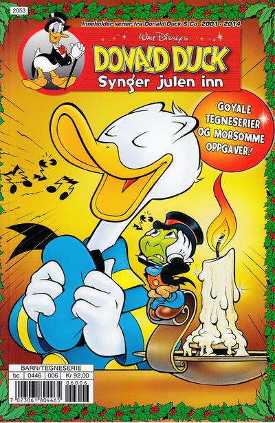 Cover for Donald Ducks Show (Hjemmet / Egmont, 1957 series) #[212] - Donald Duck synger julen inn