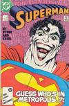 Cover for Superman (DC, 1987 series) #9 [Direct Edition]
