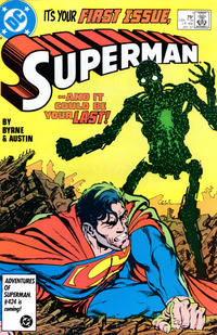 Cover Thumbnail for Superman (DC, 1987 series) #1 [Direct]