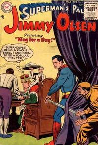 Cover Thumbnail for Superman's Pal, Jimmy Olsen (DC, 1954 series) #4