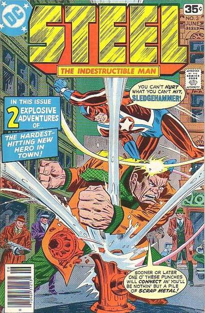 Cover for Steel, the Indestructible Man (DC, 1978 series) #3