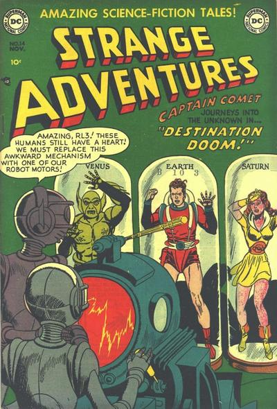Cover for Strange Adventures (DC, 1950 series) #14