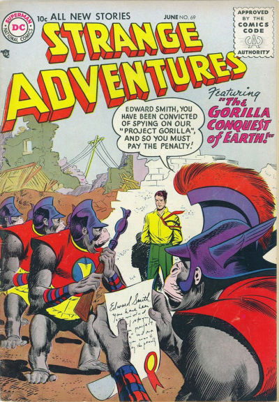 Cover for Strange Adventures (DC, 1950 series) #69