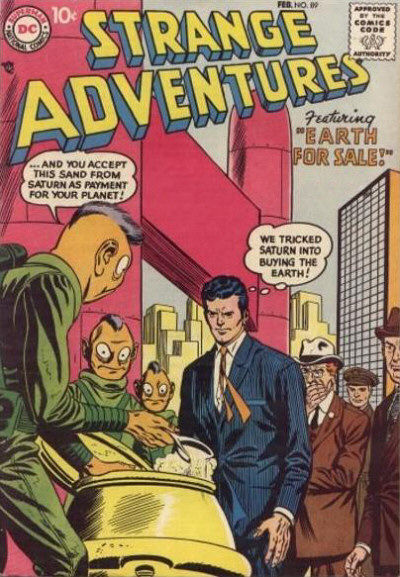 Cover for Strange Adventures (DC, 1950 series) #89