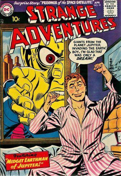 Cover for Strange Adventures (DC, 1950 series) #91