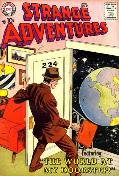 Cover for Strange Adventures (DC, 1950 series) #95