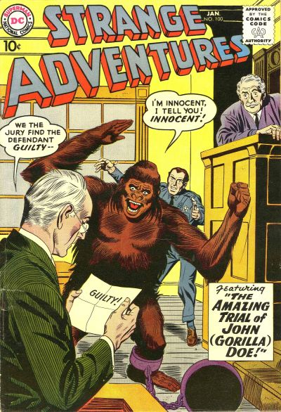 Cover for Strange Adventures (DC, 1950 series) #100