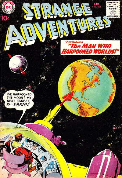 Cover for Strange Adventures (DC, 1950 series) #103