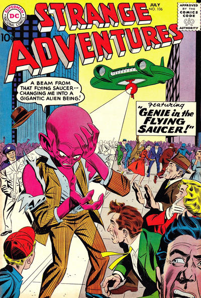 Cover for Strange Adventures (DC, 1950 series) #106