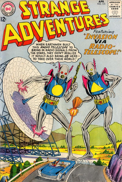 Cover for Strange Adventures (DC, 1950 series) #151