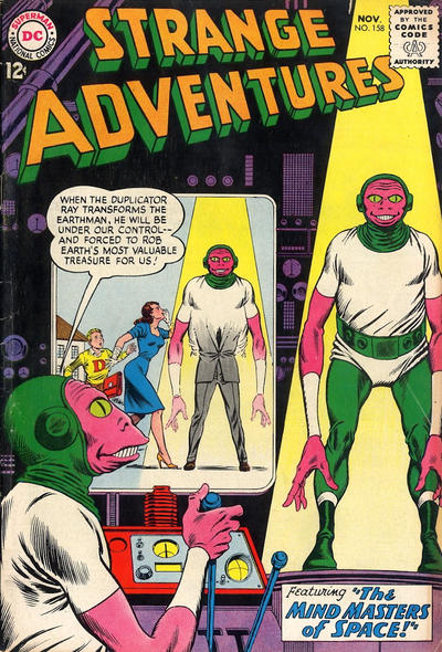 Cover for Strange Adventures (DC, 1950 series) #158