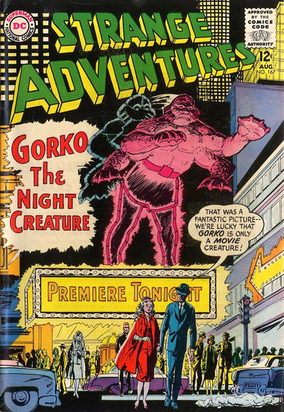 Cover for Strange Adventures (DC, 1950 series) #167