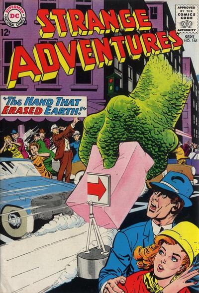 Cover for Strange Adventures (DC, 1950 series) #168