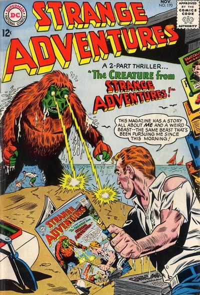 Cover for Strange Adventures (DC, 1950 series) #170