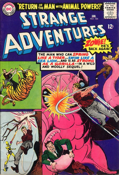 Cover for Strange Adventures (DC, 1950 series) #184
