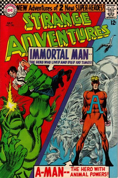 Cover for Strange Adventures (DC, 1950 series) #190