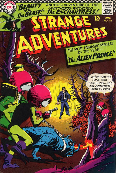 Cover for Strange Adventures (DC, 1950 series) #191