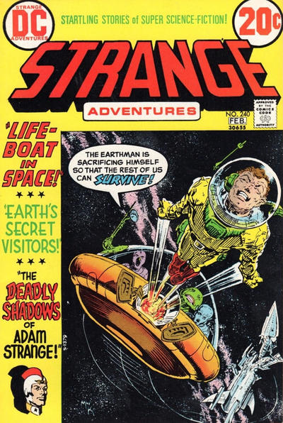 Cover for Strange Adventures (DC, 1950 series) #240