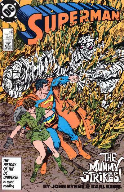 Cover for Superman (DC, 1987 series) #5 [Direct]