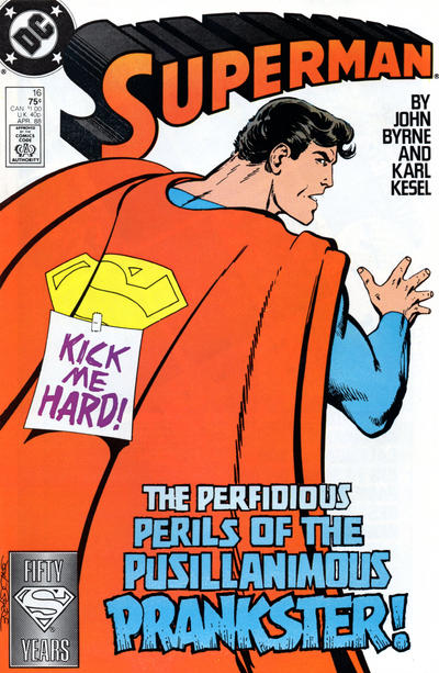Cover for Superman (DC, 1987 series) #16 [Newsstand Edition]