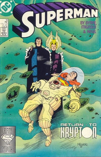 Cover for Superman (DC, 1987 series) #18 [Direct]