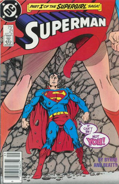 Cover for Superman (DC, 1987 series) #21 [Newsstand Edition]