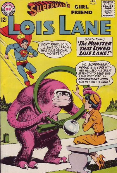 Cover for Superman's Girl Friend, Lois Lane (DC, 1958 series) #54
