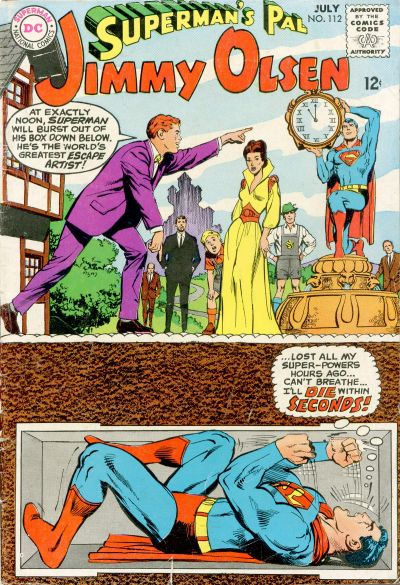 Cover for Superman's Pal, Jimmy Olsen (DC, 1954 series) #112