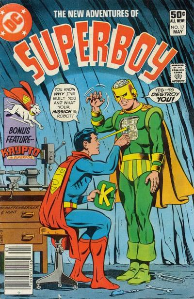 Cover for The New Adventures of Superboy (DC, 1980 series) #17 [Direct]