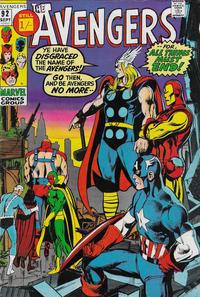 Cover Thumbnail for The Avengers (Marvel, 1963 series) #92 [British]