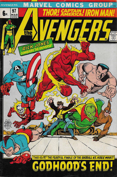Cover for The Avengers (Marvel, 1963 series) #97 [Regular Edition]