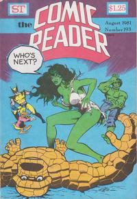 Cover Thumbnail for Comic Reader (Street Enterprises, 1973 series) #193