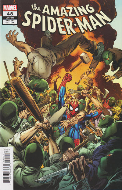 Cover for Amazing Spider-Man (Marvel, 2018 series) #48 (849) [Variant Edition - Mark Bagley Cover]
