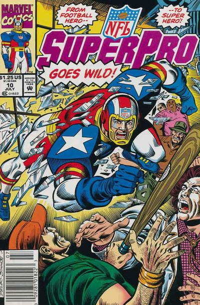 Cover for NFL Superpro (Marvel, 1991 series) #10 [Direct]