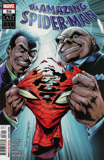 Cover for Amazing Spider-Man (Marvel, 2018 series) #56 (857) [vs Alien Variant - Mark Bagley Cover]