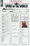 Cover Thumbnail for Dungeons & Dragons: At the Spine of the World (2020 series) #3 [Cover B - Character Sheet]