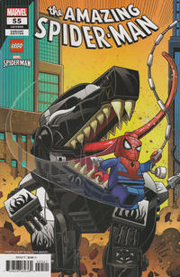 Cover Thumbnail for Amazing Spider-Man (Marvel, 2018 series) #55 (856) [Ron Lim 'LEGO' Variant]
