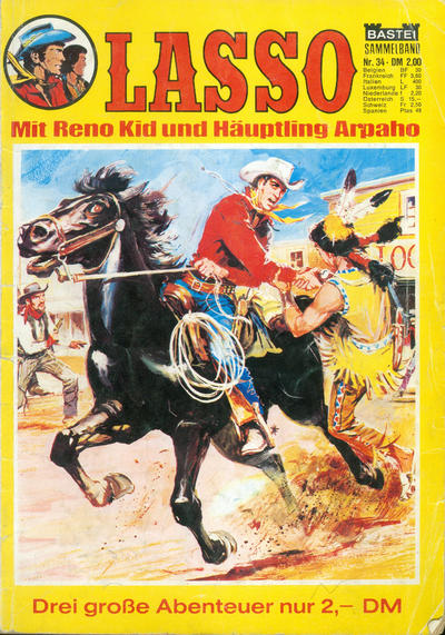 Cover for Lasso Sammelband (Bastei Verlag, 1967 ? series) #34