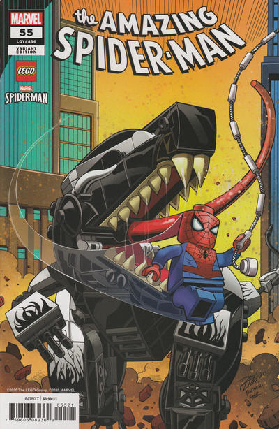 Cover for Amazing Spider-Man (Marvel, 2018 series) #55 (856) [Variant Edition - 'LEGO' - Ron Lim Cover]