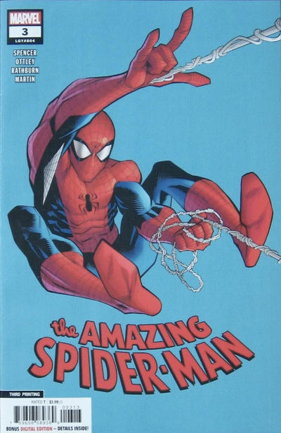 Cover for Amazing Spider-Man (Marvel, 2018 series) #3 (804) [Variant Edition - Second Printing - Ryan Ottley Cover]
