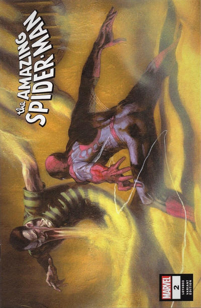 Cover for Amazing Spider-Man (Marvel, 2018 series) #2 (803) [Variant Edition - Gabriele Dell'Otto Virgin Cover]