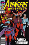 Cover for Avengers West Coast (Marvel, 1989 series) #57 [Mark Jewelers]