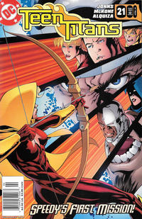 Cover Thumbnail for Teen Titans (DC, 2003 series) #21 [Newsstand]