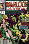 Cover for Warlock and the Infinity Watch (Marvel, 1992 series) #12 [Newsstand]