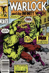 Cover for Warlock and the Infinity Watch (Marvel, 1992 series) #13 [Newsstand]