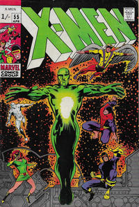 Cover Thumbnail for The X-Men (Marvel, 1963 series) #55 [British]