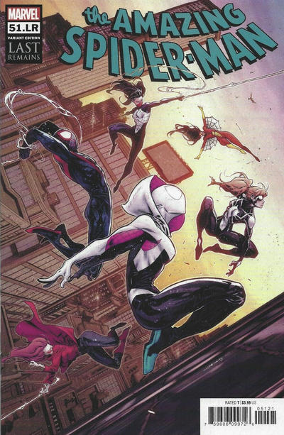Cover for Amazing Spider-Man (Marvel, 2018 series) #51.LR