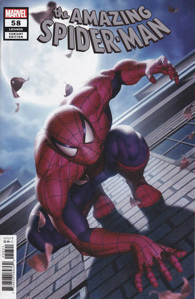 Cover for Amazing Spider-Man (Marvel, 2018 series) #58 (859) [Variant Edition - Junggeun Yoon Cover]